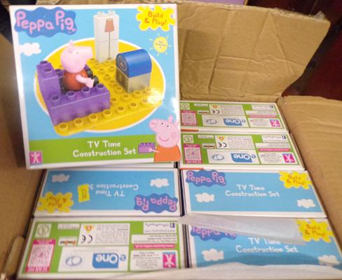8x Peppa pig construction kits