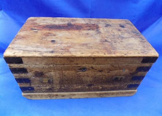 Vintage solid wood storage chest
