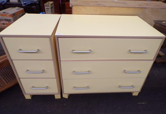 2 x three drawer units