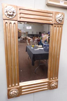Heavy plaster gilt framed mirror