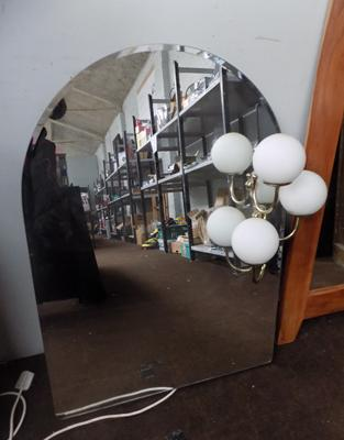 Large Art Deco hall mirror with lights