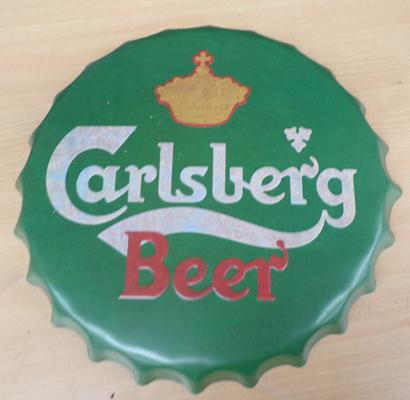 Tin plate Carlsberg Brewiana sign
