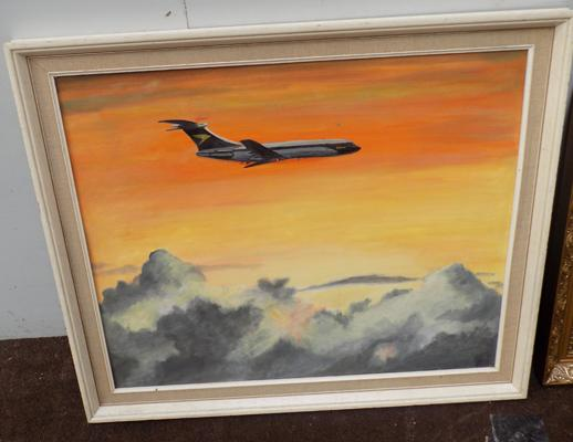 Painting of aeroplane by K W Spencer