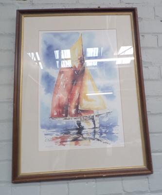 Ltd edition 406/ 520 yacht watercolour print
