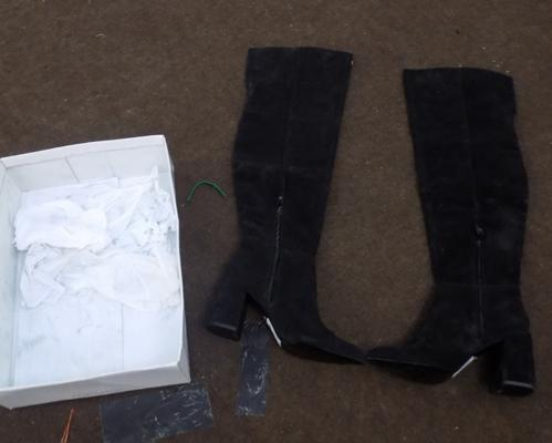 UK size 7 Bounty Black Boots from Topshop - new