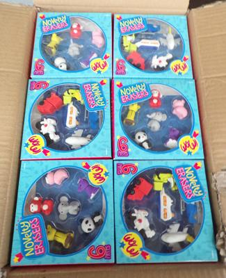 24 packs of novelty erasers