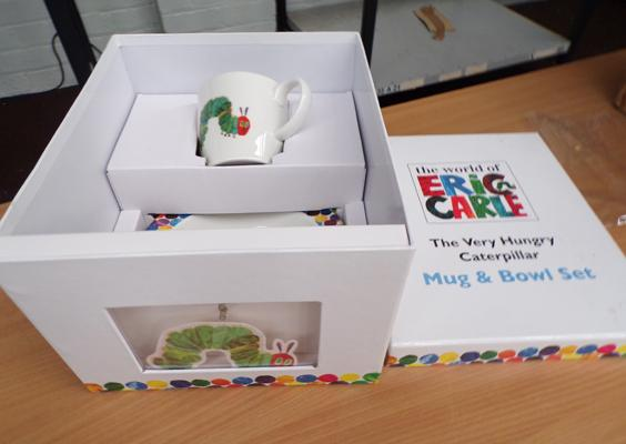 New Hungry Caterpillar mug and bowl set