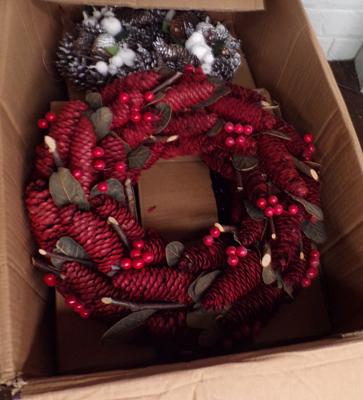 Box of mixed  wreaths