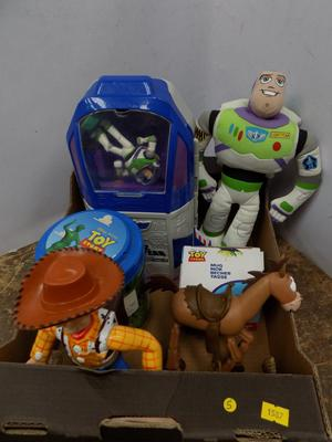 Selection of Toy Story items including - mug/90 soldiers/space craft/Buzz/Bullseye/Woody