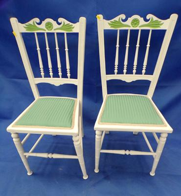 2 Georgian/regency style chairs