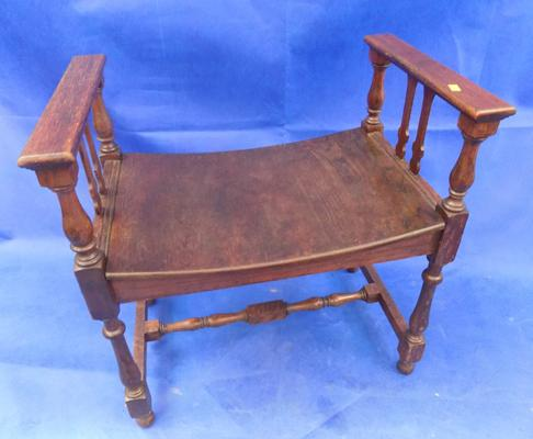 Vintage piano stool/small window seat