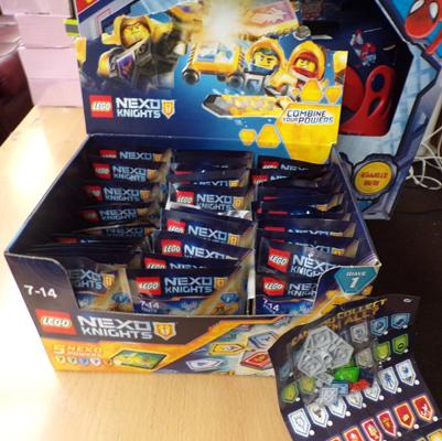 Box of Lego Nexo Knights