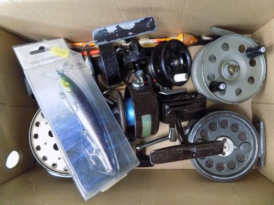 Collection of fishing reels & accessories