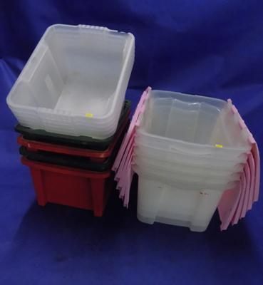 Assorted storage tubs