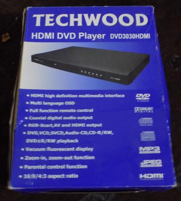 Techwood DVD player with remote control