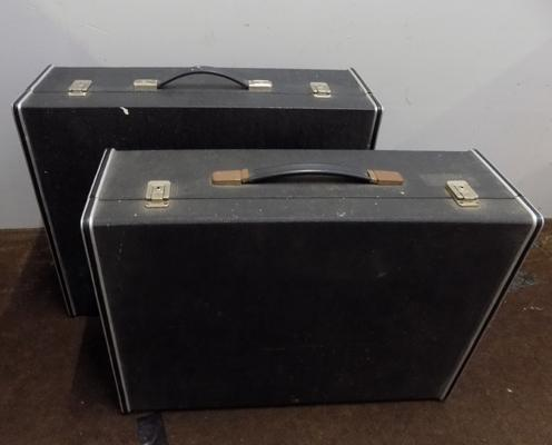 "2 large DJ 7"" record cases with removable lids"