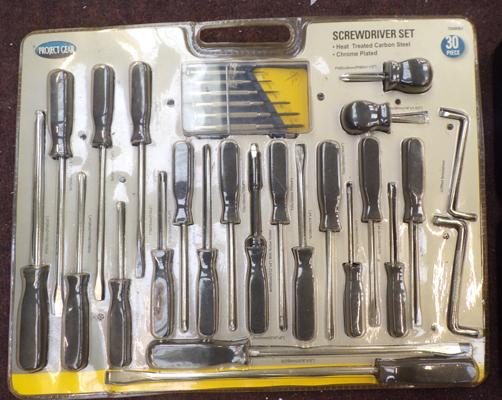 New 30 piece screwdriver set