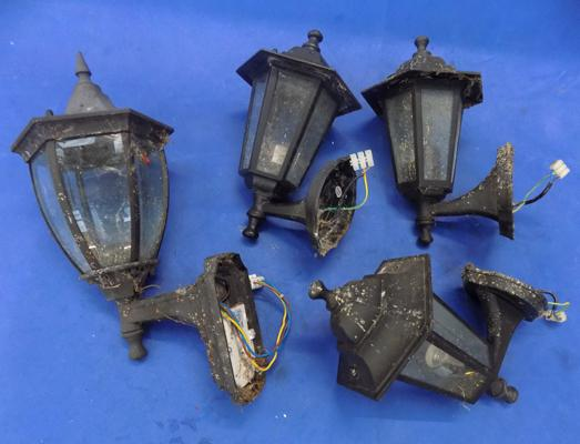 Selection of outside lights and lanterns