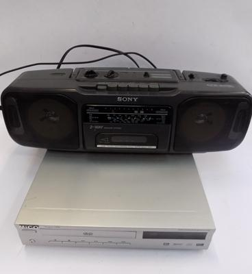 DVD player & Sony stereo-w/o