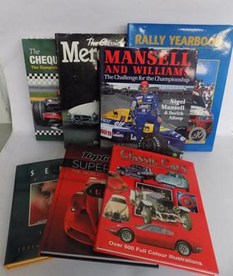7x Hard back car themed books