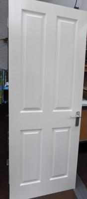2 standard size doors (1 bathroom door with fittings)