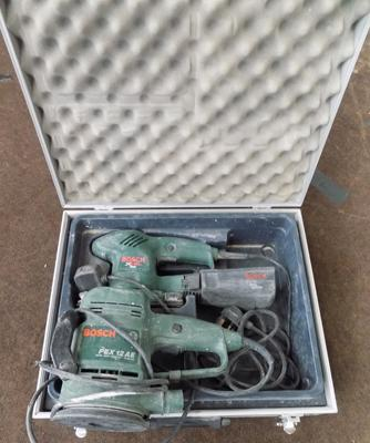 2 Bosch sanders W/O - with 1 case