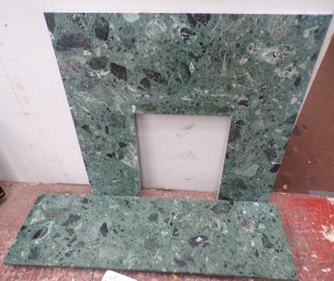 Marble hearth and surround