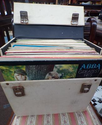 Box of vinyl including ABBA