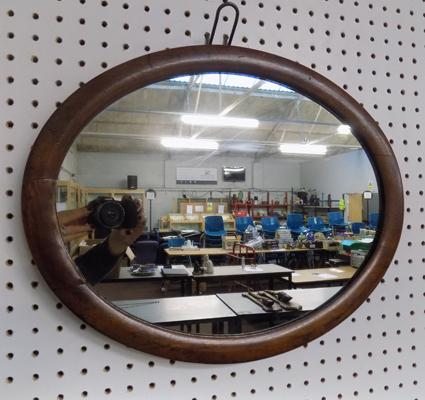 Vintage oak framed mirror