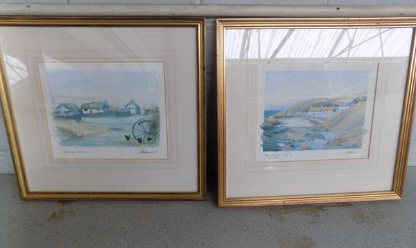 Pair of prints of Isle of Man