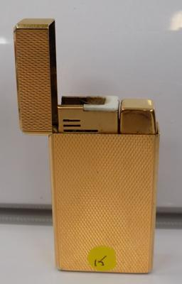 Gold plated Collibri molectric 88 gas lighter w/o