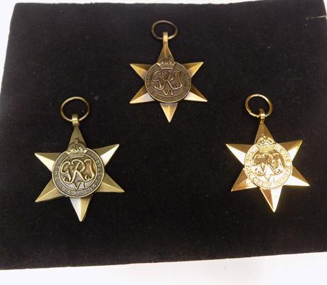 3 replacement star medals