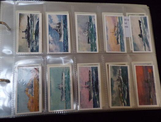 11 full sets of cigarette cards and others
