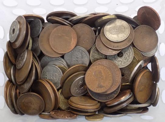 Basket of World coins