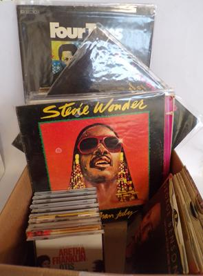 Box of Soul, Motown, Funk and Disco LPs, singles and CDs