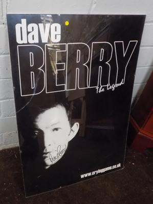 Dave Berry - signed poster
