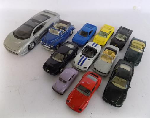 Selection of diecast cars