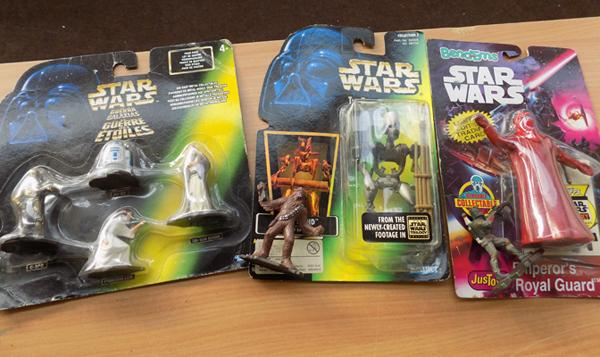 Star Wars collectables inc lead figures (some still on card)