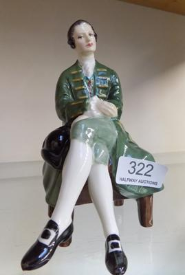 Royal Doulton 'Gentleman from Williamsburg', HN2227, Approx 6 inches tall, issued 1960 - 1983-no damage found