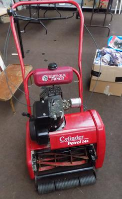 Suffolk Punch Self Propelling Cylinder Petrol Mower 14S in working order