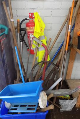 Large selection of garden tools
