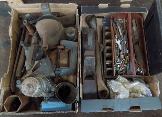 Selection of hand tools, specialist drill bits and others