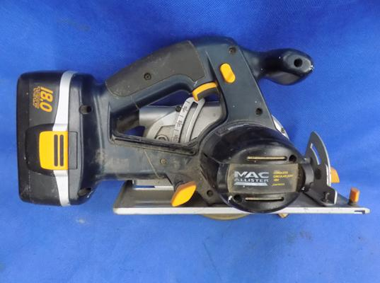 Macallister 18V circular saw requires battery charger W/O