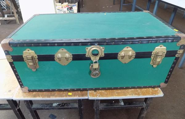 Large travel trunk