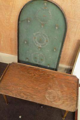 Vintage bagatelle and small folding table