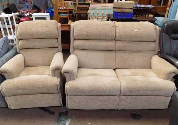 2 Seater settee & recliner chair