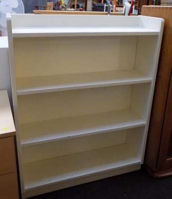 White painted bookcase