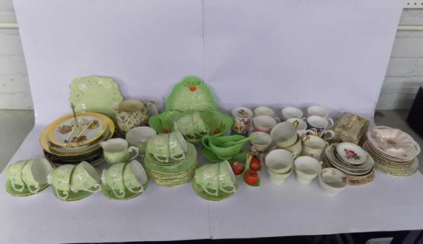 Large selection of named pottery inc Carlton ware, Queen Anne etc