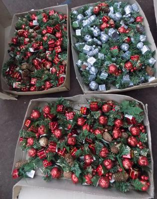 3x Boxes of Christmas decorations