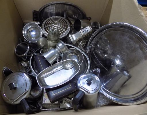 Box of EPNS and silver plate